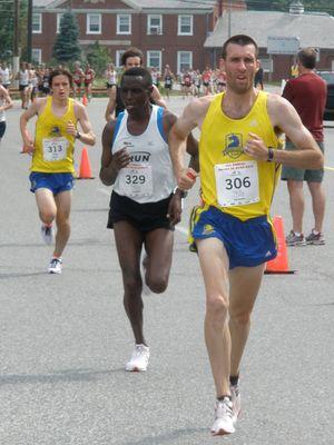 JMatt Ely (BAA) and Joseph Koech (RUN) won open and masters 5K titles on Sunday in Rhode Island. (Photo: Steve Vaitones)