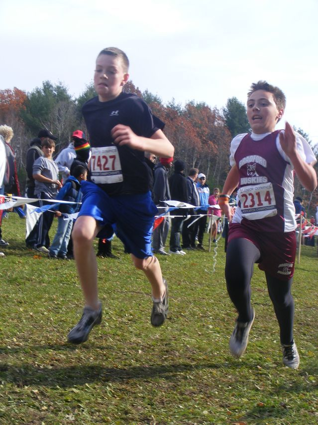 e18abe1f7b3 Jacob Meier and Ethan Randall head to the finish in the Midget Boys 3K  (Vera Vaitones photo). JUNIOR OLYMPIC CROSS COUNTRY