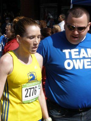 Women's bronze medal winner Lindsay Willard and race director Dan McCarthy (USATF NE photo)