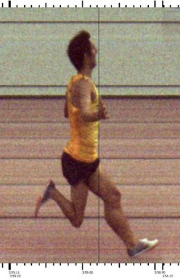 Corey Leslie's 3:58.98 became the first sub-4:00 miler in Rhode Island history. (Photo: Dave Wilbur Timing)