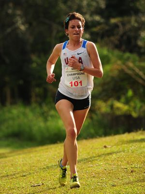 Mary Kate Champagne took second place at the NCAC XC Championships in Jamica (Photo: Mike Scott)