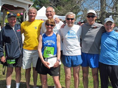 James Joyce Ramble M70 team and individual winners, and Jan Holmquist (Photo courtesy of Jan Holmquist)