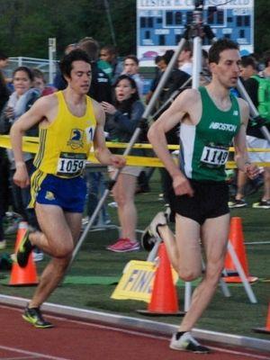 Dan Harper (BAA) won the NE 10,000m championship at Boston Twilight #2 (Photo: Tom Derderian)