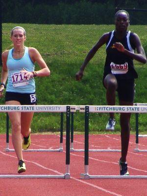 Young Women's 400 meter hurdles (Photo: Vera Vaitones)