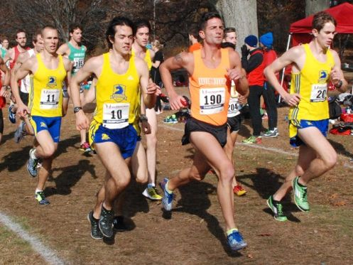 First place finisher, Ashe #10, and third, Dan Harper #10 in Men's 10K Championship. (photo: Tom Derderian)