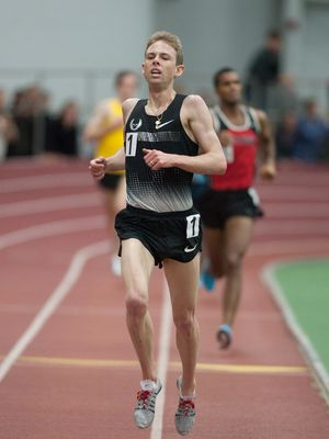 Galen Rupp set the new 5000 meter record at Boston University. (photo: Alison Wade)