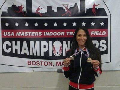 Ocean Eversley (Falmouth MA/Mass Velocity TC) won two golds in the Masters Nationals. (Photo: Rich Tarter)