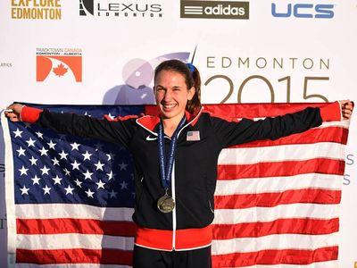 Erin Dietz won the 3000 at the Pan American Juniors in Edmondton. (Photo: courtesy Emerging Elite)