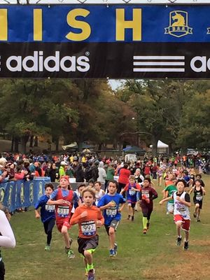 Finishers, in the age 6-10 Division, (Photo: B.A.A.)