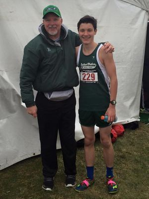 National Champion Sam Toolin with Sentinel Strider coach Joe Bennett (Photo: Sentinel Striders)