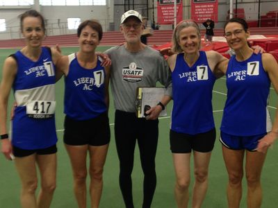 Liberty AC W50 Relay Team breaks the American Record. (Photo: Liberty AC)
