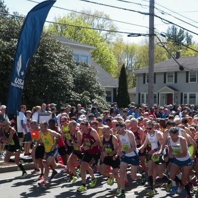 Start of 2016 USA Masters 10K Championship at the James Joyce Ramble in Dedham MA. (Photo: USATF-NE)