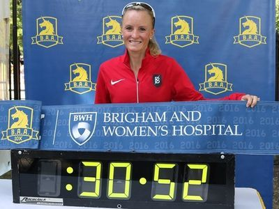 Shanlane sets American Record at B.A.A. 10K (Photo: Chris Lotsbom for Race Results Weekly)