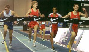 Jonathan Riley wins the 3000 meter.