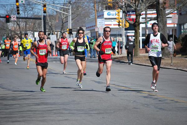 Andrea Walkonen (Bib# 1105) at the New Bedford Half Marathon. (Photo Credit: Krissy Kozlosky)