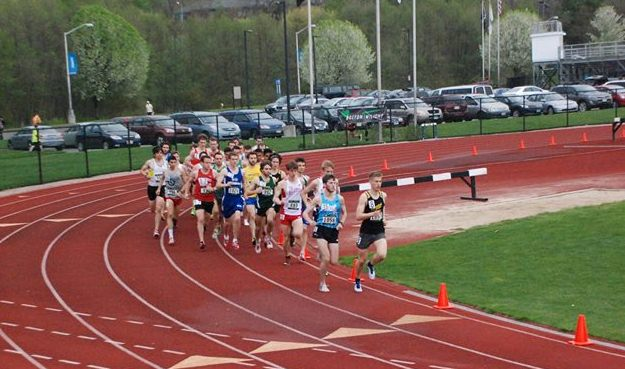 The men's 5000 meter field at the New Balance Boston Twilight Meet on May 10 - Photo Credit: Tom Derderian